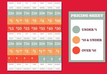Yard Sale Price Tags Free Vector - Free vector #150509