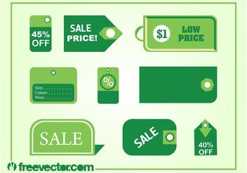 Price Tags Vectors - vector gratuit #150619