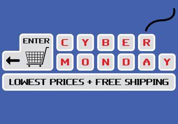 Cyber Monday Vector - Free vector #150659