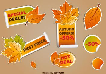 Autumn Deal Tags - vector gratuit #150669