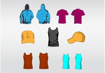 Clothes Designs - vector gratuit #150759