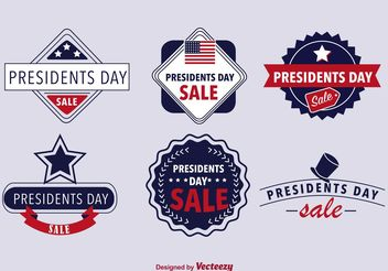 Presidents Day Badges - Free vector #150779