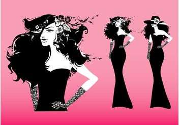 Fashion Girl Vector - Free vector #150819