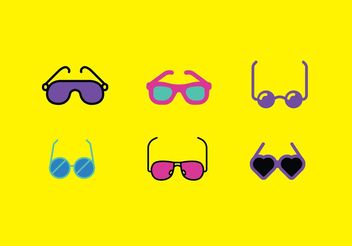 80s Sunglasses Vector Pack - Free vector #150849
