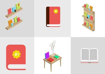 Best Seller Book Vectors - Free vector #150889