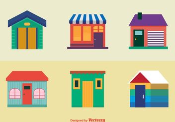 Colourful Houses Icons - Free vector #150899