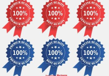 Premium Quality Ribbon/Badge Set - Free vector #150909