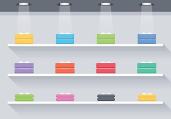Free Flat 3D Shelves Vector - бесплатный vector #150919