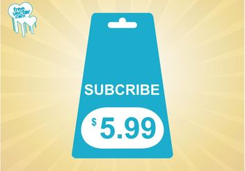 Subscribe Tag - vector #150979 gratis