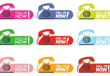 Call Us Now Labels - vector gratuit #151009