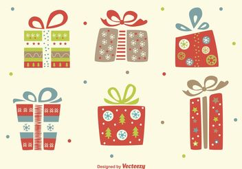 Christmas Flat Vector Gifts - бесплатный vector #151019