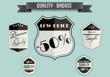 Free Vector Badge Set - Free vector #151069