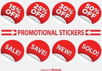 Promotional Label Set - vector gratuit #151079