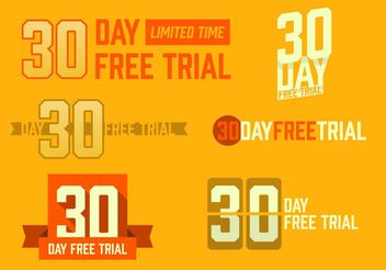 30 Day Free Trial Free Vector - Free vector #151169