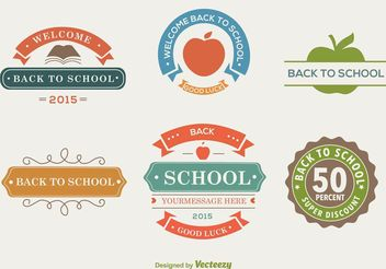 Back To School Colour Labels - Free vector #151199