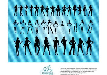 Sexy Girls Silhouettes - vector gratuit #151249