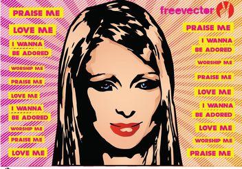 Paris Hilton Vector - vector #151259 gratis