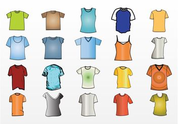 T-Shirt Design Templates Vector - Free vector #151399