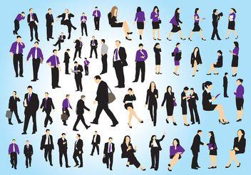 Business People Set - Kostenloses vector #151419