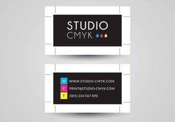 Free Business Card Vector Design For Printery - Kostenloses vector #151449
