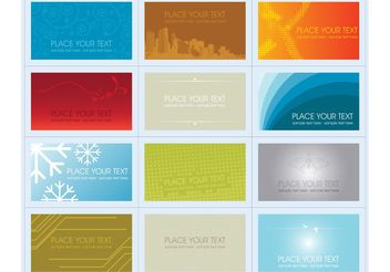 Business Cards - Kostenloses vector #151499