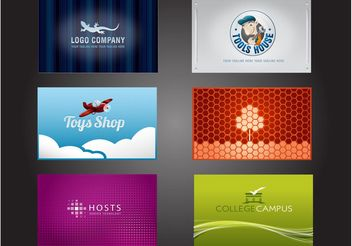 Business Card Logo Pack - vector gratuit #151509