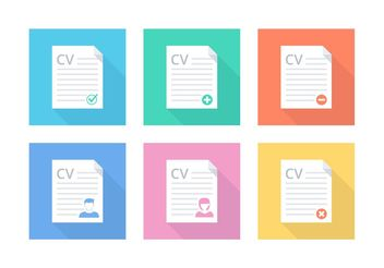 Free Flat Curriculum Vitae Vector Icons - Free vector #151549