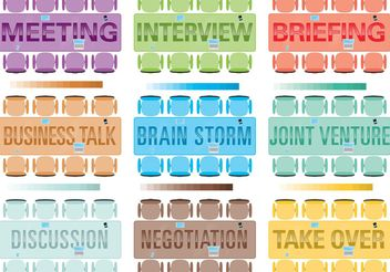 Vector Table Meeting with Words - Free vector #151809