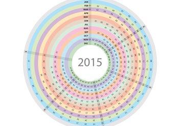 Circular Daily Planner Vector - бесплатный vector #151839