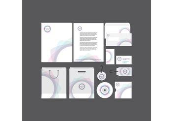 Spiral Company Profile Template - vector gratuit #151849