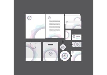 Spiral Company Profile Template - Free vector #151849