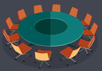 Round Table Meeting Vector - vector gratuit #151879