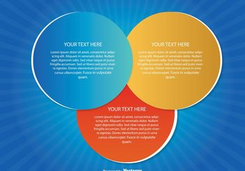 Modern Text Circles Illustration - Free vector #151969