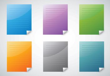 Colorful Paper Vectors - Free vector #151989