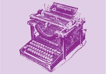 Remington Typewriter - vector #152129 gratis