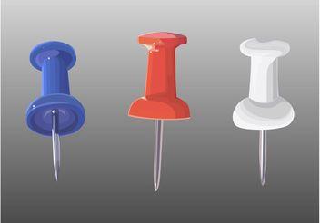 Plastic Pins - vector gratuit #152149