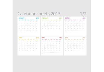 Vector Calendar Sheets 01 - Kostenloses vector #152259