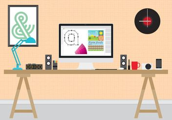 Design Work Station - vector gratuit #152269