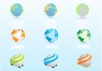 Globe Graphics - vector gratuit #152509