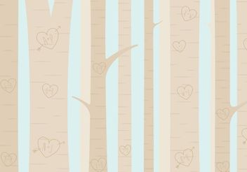 Heart Carved Tree Forest Vector - vector gratuit(e) #152569