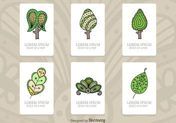 Tree Illustration Cards - Free vector #152599