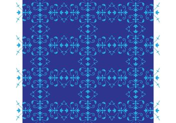 Blue Flowers Pattern - vector #152649 gratis