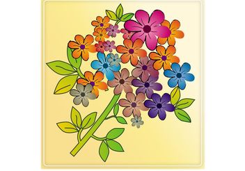 Colorful Flowers Tile - vector gratuit #152669