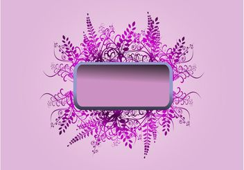 Purple Flowers Banner - vector #152699 gratis