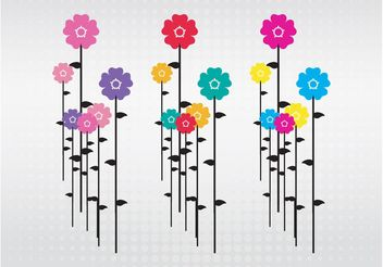 Flowers Illustration - Free vector #152769
