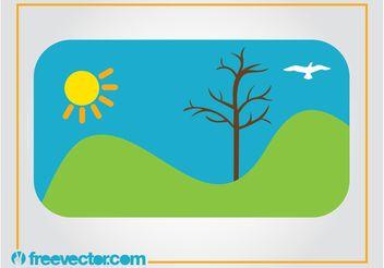 Vector Landscape - Free vector #152899