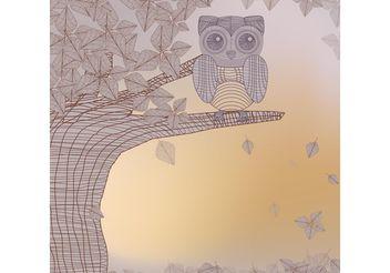 Owl in Tree Vector - Kostenloses vector #152909