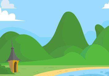 Green Rolling Hills Vector - бесплатный vector #152989
