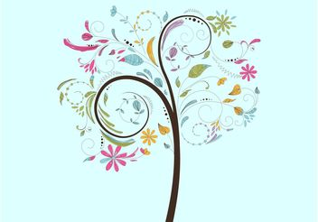 Spring Tree Vector - Free vector #153129