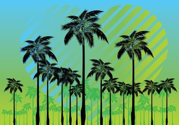 Free Palm Tree Vectors - Free vector #153179